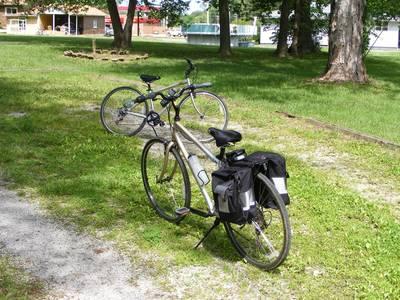 Two similar bikes