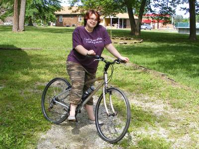 Dawn likes her bike