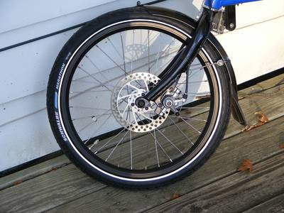 Front tire too