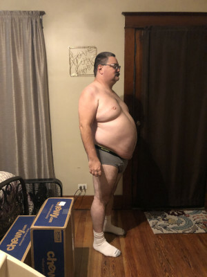 January 2020, about 300 pounds